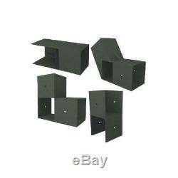 10 ft. W x 10 ft. D Custom DIY Storage Shed Kit by E-Z Frames