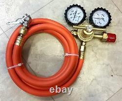 10-ft hose Nitrogen Regulator Kit DIY N2 tire inflation with No-Kink Swivel