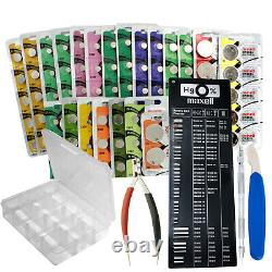 150pc Maxell Mercury-Free Watch Battery Kit +5 FREE Tools DIY Watch Hobby/Repair