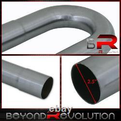 16Pcs 2.5 Od Diy Custom Exhaust Tubing Mandrel Bend Pipe Straight + U-Bend Kit