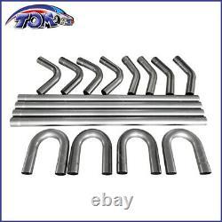 16pcs 2.25od Diy Custom Exhaust Tubing Mandrel Bend Pipe Straight&u-bend Kit