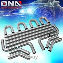 16pcs 2.25od Steel Diy Custom Mandrel Exhaust Tubing Pipe Straight & Bend Kit