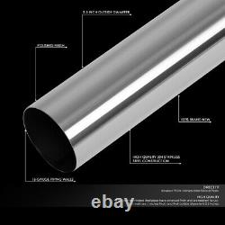 16pcs Diy Custom 2.5od Straight & 45 90 Degree Bend Exhaust Tubing Pipe Kit