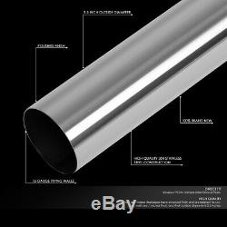 16pcs Stainless 2-1/2 Diy Custom Mandrel Exhaust Tubing Pipe Kit Straight&u-band
