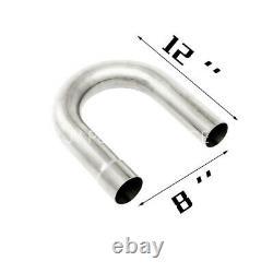 16pcs Steel 2-1/2 Diy Custom Mandrel Exhaust Tubing Pipe Kit Straight & Bend