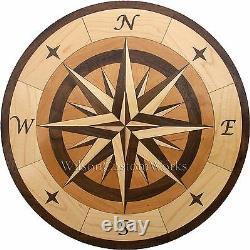 18 Wood Floor Inlay 96 Piece Star Compass Medallion kit DIY Flooring Table Box