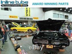 1950-72 GM Car 3/16 Stainless Brake Line Set Universal Kit DIY WithHose Tabs SAE