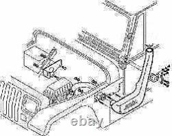 1999-2006 Jeep Wrangler TJ YJ Air Intake Rolling Head Snorkel Installation Kit