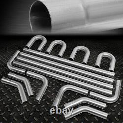 2.25od Diy Custom Exhaust Pipe Kit 16-pieces Straight & 45 90 Degree & U-bends
