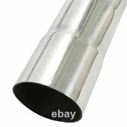 2.5 304 Stainless Steel DIY Custom Mandrel Exhaust Pipe Straight&Bend 16pcs Kit