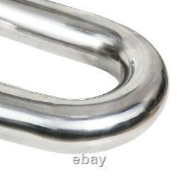 2.5 304 Stainless Steel DIY Custom Mandrel Exhaust Pipe Straight & Bend Kit 8pc