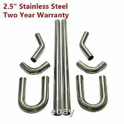 2.5 Stainless Steel DIY Custom Tubing Mandrel Exhaust Pipe Straight& U-Bend Kit