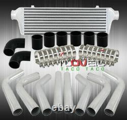2.5 Turbo Polish Piping Kit + Bar And Plate Intercooler Diy Kit