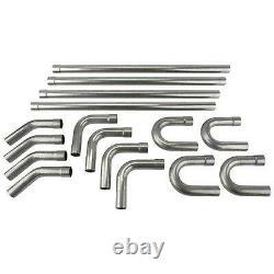 2.5od Diy Custom Exhaust Tubing Mandrel Bend Pipe Straight & U-bend Kit 16pcs
