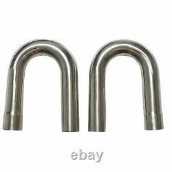 2 Stainless Steel DIY Custom Mandrel Exhaust Pipe Straight + Bend Kit