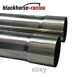 3 8pcs Stainless Steel DIY Custom Mandrel Exhaust Pipe Straight&Bend Kit 76mm