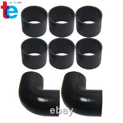 3 Inch Aluminum Intercooler Piping U-Pipe Kit + Coupler Black + T-Clamps
