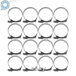 3 Inch Aluminum Intercooler Piping U-Pipe Kit+Coupler Black+T-Clamps Universal
