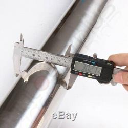 3 Stainless Steel T-304 DIY Custom Mandrel Exhaust Pipe Straight Bend Kit New