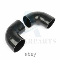 3 inch 8pcs Universal Aluminum Turbo Intercooler Piping + Host Clamp U Pipe Kit