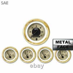 5 Gauge Set SAE Amer Clasic Gold VIII, Black Mod Nedl Gold Trm Rngs Kit DIY