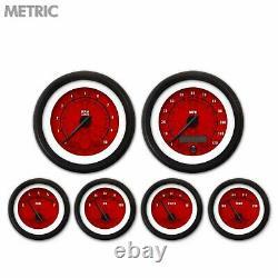 6 Ga. Set Metric Tribal Rd, Black Mod Needles, Black Trim Rings Style Kit DIY