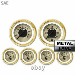 6 Ga. Set SAE Amer Clasic Gold VIII, Black Mod Nedl, Gold Trm Rngs Kit DIY
