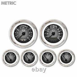6 Ga. Set with emblem Metric Pulsar Grey, Black Mod Nedl, Chrom Trm Rngs Kit DIY
