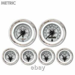 6 Ga. Set with emblem Metric Skull Series, Black Mod Nedl, Chrom Trm Rngs Kit DIY