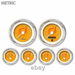 6 Ga. Set withemblem-Metric Ghost Flame Or, Wht Mod Nedl, Chrom Trm Rngs Kit DIY