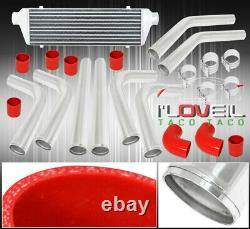 8Pc Diy Mandrel Bent Piping Pipe Kit Fmic Front Mount Aluminum Intercooler Set