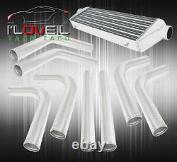 8Pcs 2.5 Diy Piping Kit Turbo Fmic Front Mount Intercooler Silicone Coupler