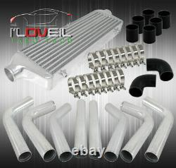 8X Piping Kit+3Ply Type Turbo Coupler+Clamps+Fmic Bar And Plate Intercooler Kit