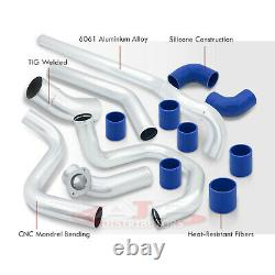Aluminum Turbo Charged Piping Kit For 2002-2005 Civic Si Ep3 K20 + Blue Couplers