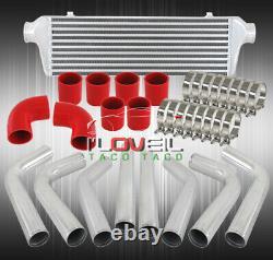 Bar & Plate 27.5 Turbo Intercooler + 2.5 8Pcs Aluminum Custom Diy Piping Kit