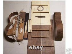 Classical Guitar Diy Kit All Solid Wood, Indian Rosewood B/s, Ebony Fingrbrd
