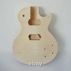Custom Diy LP style Guitar kits unfinished Solid wood Electric Guitar set