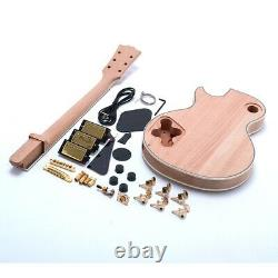 Custom Unfinished DIY LP Electric Guitar Kits 3pcs Humbuckers Flamed Maple