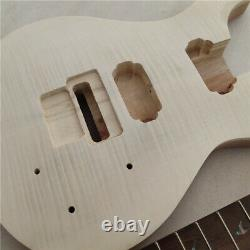 DIY 1 Set Unfinished Guitar Neck and Body Electric Guitar kit