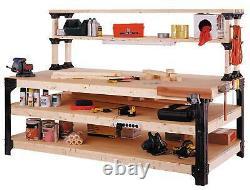 DIY CUSTOM WORKBENCH Storage Wooden Shelf Garage Shop Workshop Table Bench Kit