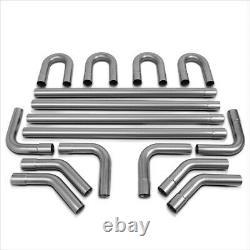 DIY Custom 4X Straight& 45 90 Degree & U-Bend 16 Pcs 2.5OD Exhaust Piping Kit