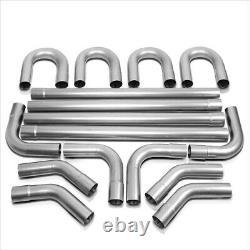 DIY Custom 4X Straight& 45 90 Degree & U-Bend 16 Pcs 3 OD Exhaust Piping Kit