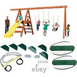 DIY Custom Backyard Kids Play Set Hardware Kit Outdoor Swing Seat Trapeze Ring