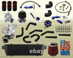 DIY Custom Universal T3/T4 Hybrid Performance Turbo Charger Kit 450+Hp Black