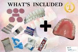 DIY Denture Kit and Pre-designed Denture /Full Upper dentures custom dentures