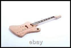 DIY Electric Guitar High Quality Mahogany Body Chrome Hardware unfinished kits