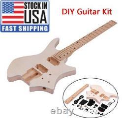 DIY Electric Guitar Kit Basswood Body Maple Wood Fingerboard Guitar Neck c Z0F1