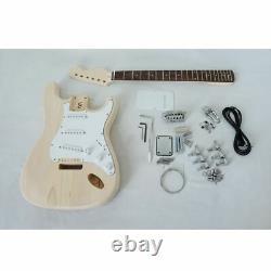 DIY Electric Guitar Mahogany Body Rosewood Fingerboard String Self Assembly Kit