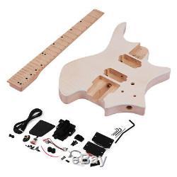 DIY Electric Guitar Unfinished Body Guitar Basswood Guitar Body Kit Parts K1E5