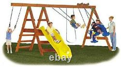 DIY Playground Kit Playset Custom Additional Swing Set Outdoor wood not included